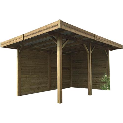 Solid carport combinatie 'S7755' hout 20 m²