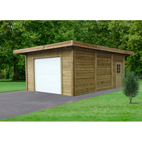 Solid garage gemotoriseerd 'S7756' hout 35 m²