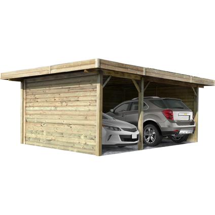 Solid carport combinatie 'S7757' hout 35 m²