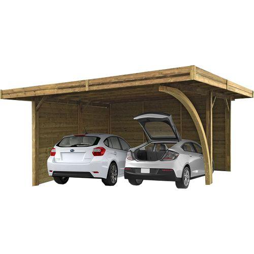Solid carport combinatie 'S7758' hout 30 m²