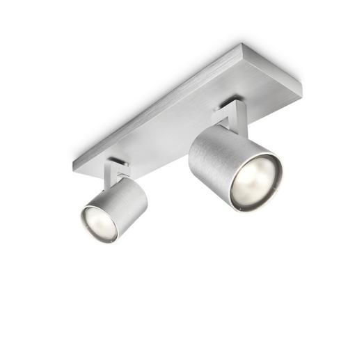Philips spot Runner aluminium 2xGU10