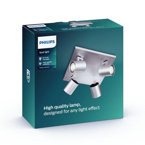 Philips spot Runner aluminium 4xGU10