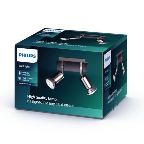 Philips spot Carrea nikkel 2xGU10