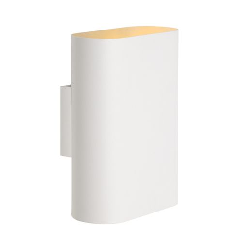 Lucide wandlamp Ovalis wit 2xE14