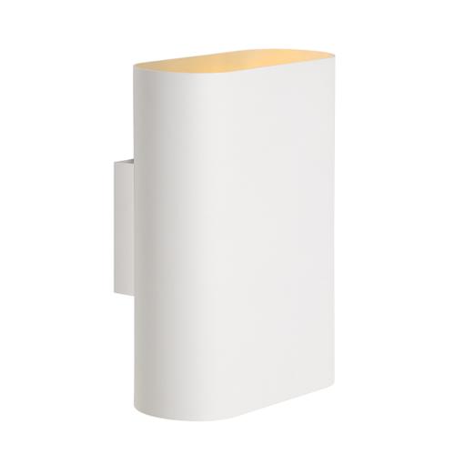 Lucide ovalis wandlamp wit 2x9w