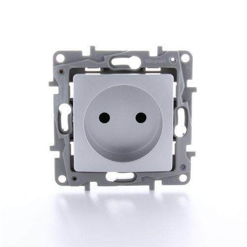 LeGrand stopcontact Niloe inbouw 2-polig aluminium