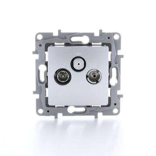 LeGrand stopcontact TV/FM/SAT Niloe aluminium