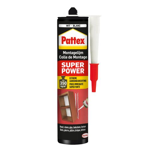 Pattex montagelijm Super Power Waterbased wit 370g