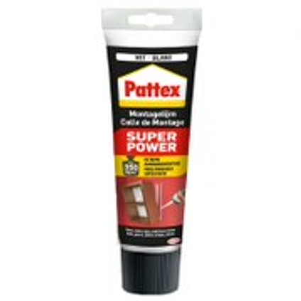 Pattex montagelijm Super Power Waterbased wit 250g