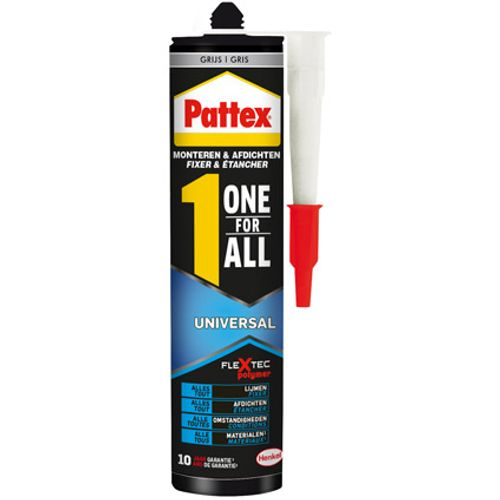Pattex montagelijm 'One for All Universal' grijs 390gr