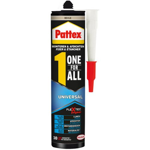 Pattex montagelijm 'One for All Universal' beige 390gr