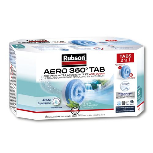 Rubson vochtopnemer navullingen AERO 360 vanille 4stuks