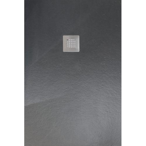 Receveur de douche Aqua+ 'Nola' anthracite 120 x 80 cm