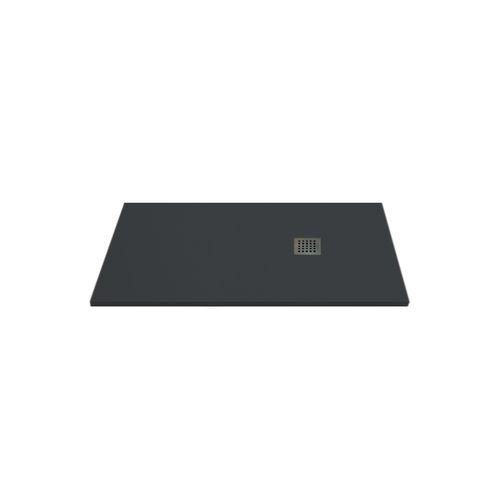 Receveur de douche Aqua+ 'Nola' anthracite 140 x 90 cm
