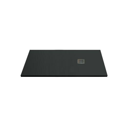 Receveur de douche Aqua+ 'Nola' anthracite 160 x 90 cm