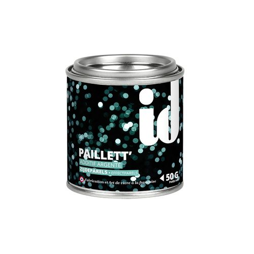 Glitters additief Paillett' zilver 50gr