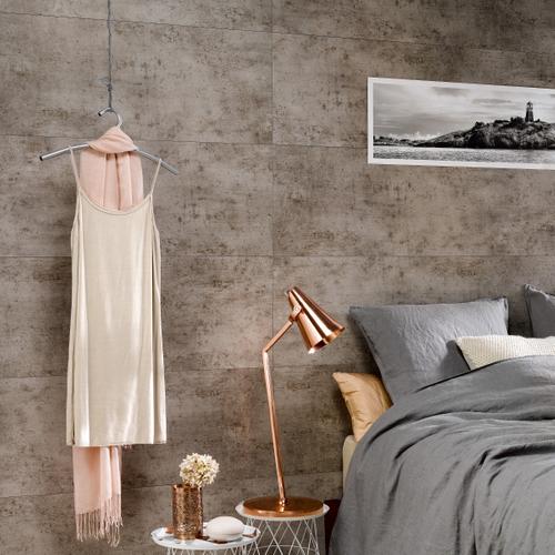 Dumaplast wandpaneel 'Dumawall+' donker cement 37,5x65cm