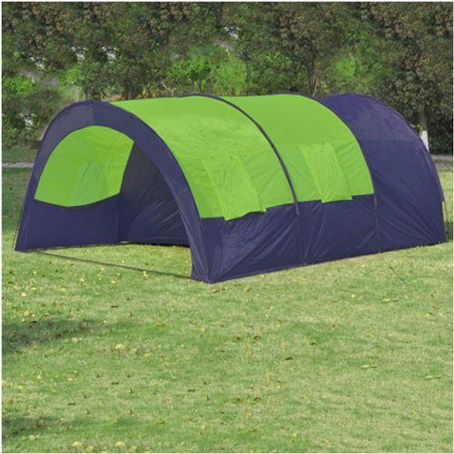 Polyester Kampeertent 6-persoons blauw/groen