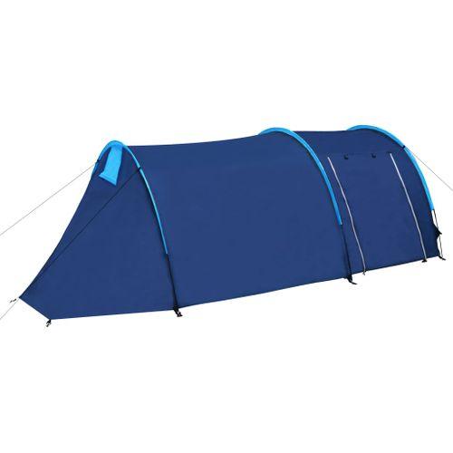 Waterbestendige campingtent voor 4 personen Marineblauw/lichtblauw