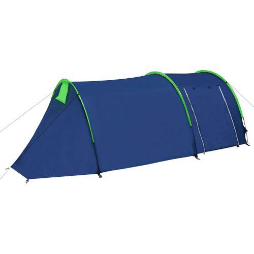 Waterbestendige campingtent voor 4 personen marineblauw / groen