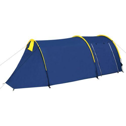 Waterbestendige campingtent voor 4 personen Marineblauw / geel