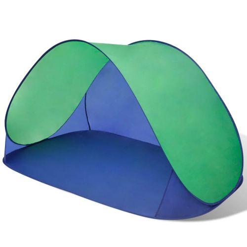 Opvouwbare strandtent waterafstotend en met UV bescherming groen