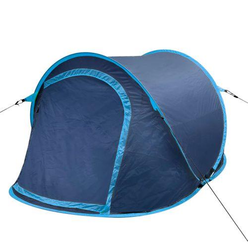 Pop-up tent 2 personen marineblauw / lichtblauw