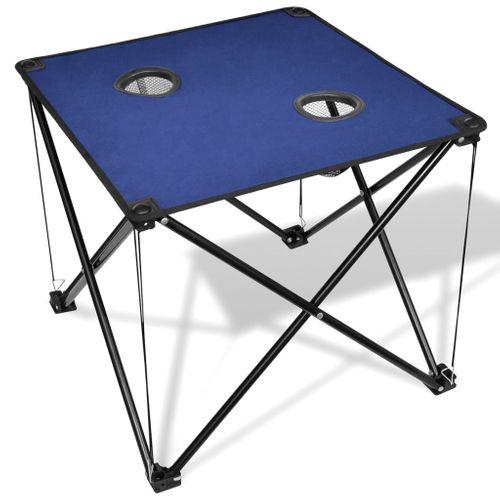 Campingtafel inklapbaar blauw