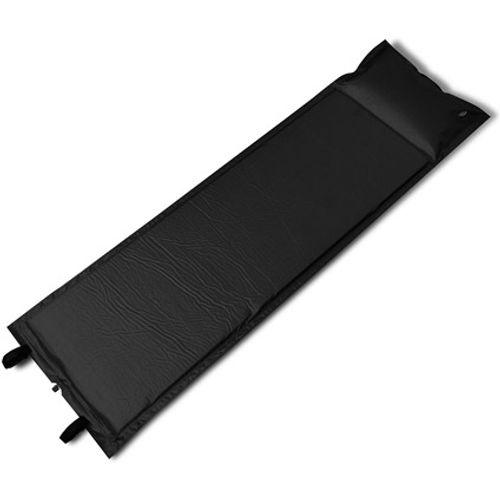 Slaapmat zelfopblazend zwart 185 x 55 x 3 cm enkel