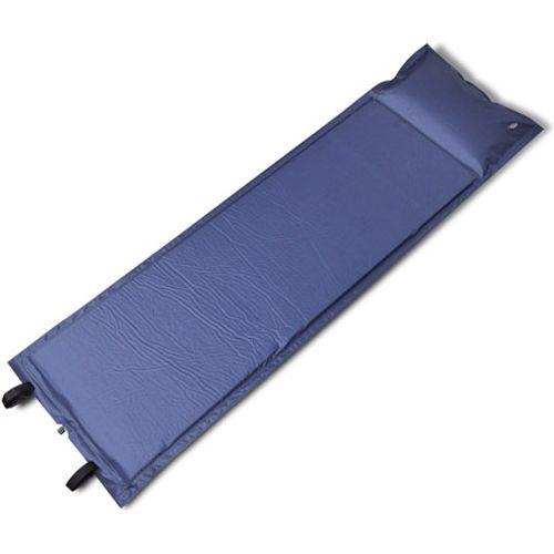 Slaapmat zelfopblazend blauw 185 x 55 x 3 cm enkel