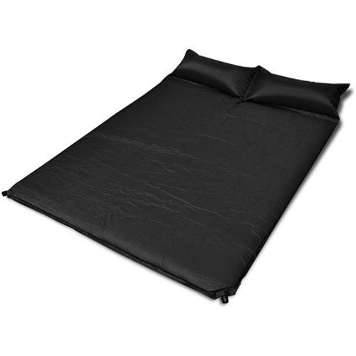 Slaapmat zelfopblazend zwart 190 x 130 x 5 cm dubbel