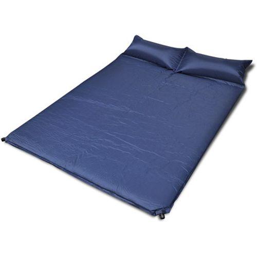 Slaapmat zelfopblazend blauw 190 x 130 x 5 cm dubbel