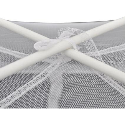 Mongolia klamboe muggennet 2 openingen wit 200 x 150 x 145 cm wit