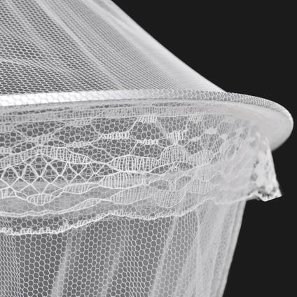 Dubbele klamboe muggennet voor rond bed 1020 x 230 x 56 cm set van 2