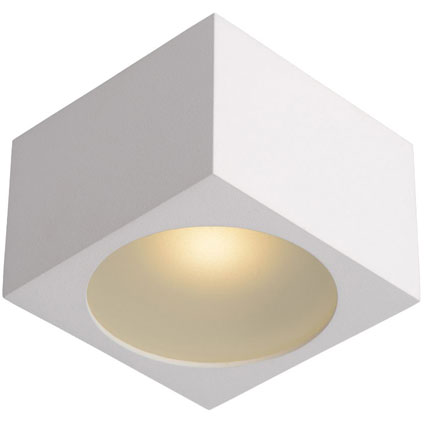 Lucide plafondlamp 'Lily Vierkant' wit 4W