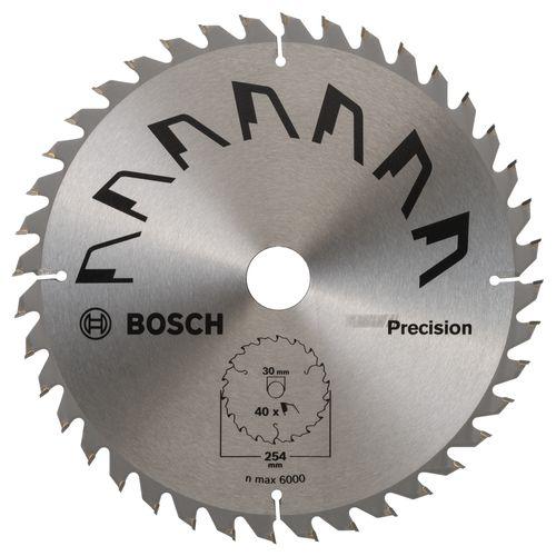 Bosch cirkelzaagblad Precision t40 254x2x30mm