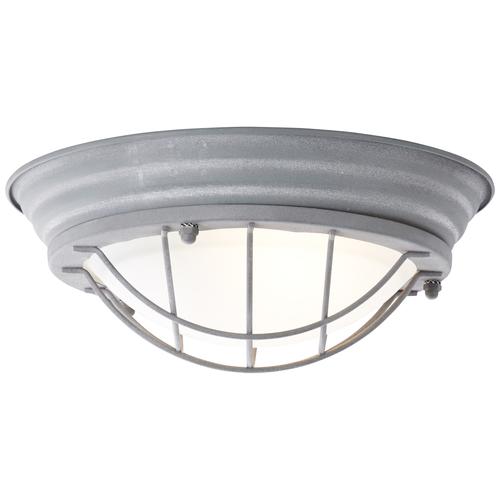 Brilliant plafondlamp Typhoon betongrijs Ø29cm