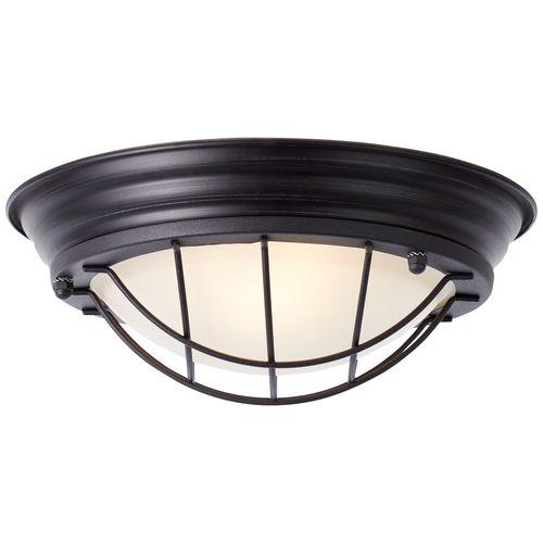 Brilliant plafondlamp Typhoon zwart Ø29cm