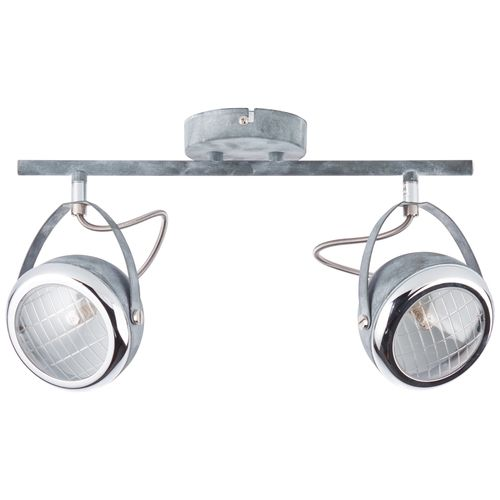 Brilliant spotlamp 'Rider' grijs 2x33W