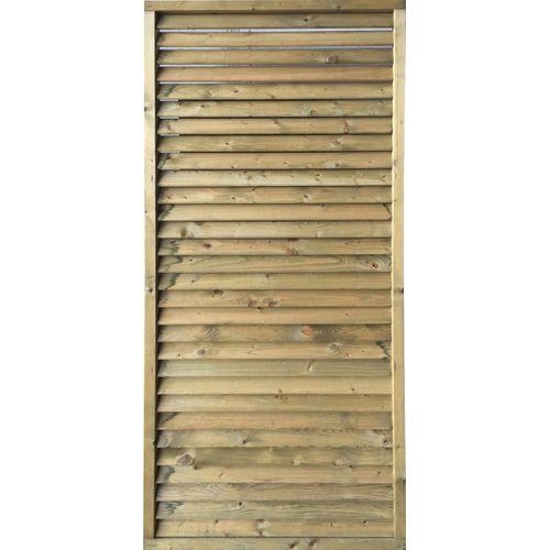 Solid vaste lamellenwand S1063 geïmpregneerd hout 90x200cm