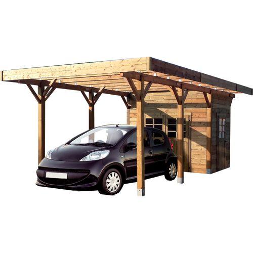 Solid carport incl. berging S7753 21m²
