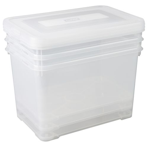 Allibert opbergbox Handy Box 65L transparant 3 stuks