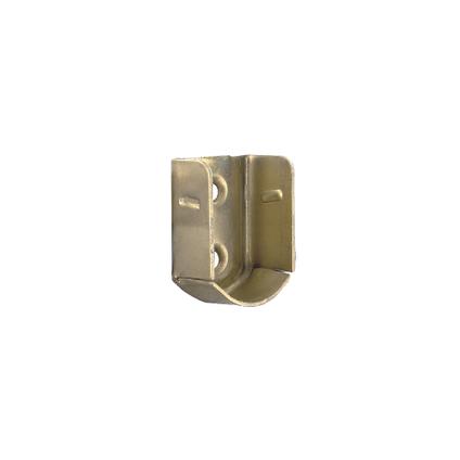 Vynex steun muur vermessingd staal 18 x 26 mm - 2 stuks