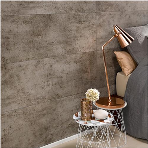 Dumaplast wandpaneel 'Dumawall+' donker cement 37,5x120cm