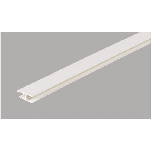 Klik verbindingsprofiel voor pvc panelen Dumaplast mat wit 2,6 m