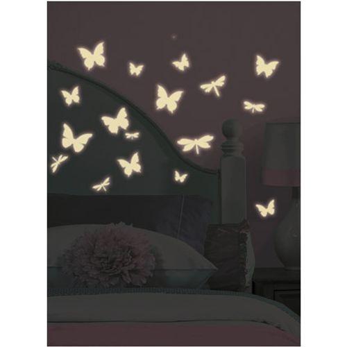 RoomMates muursticker Vlinder & Libelle Glow