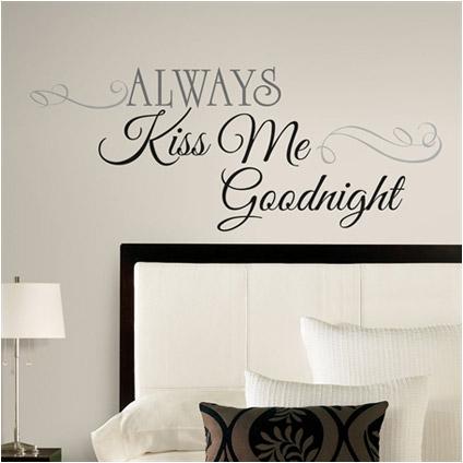RoomMates muursticker Always Kiss Me Goodnight