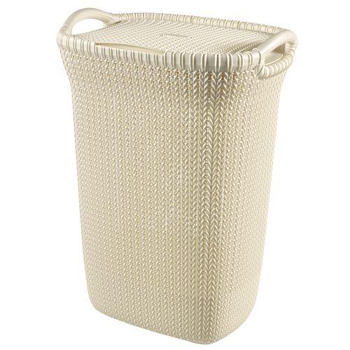Panier à linge Curver Knit blanc 57L