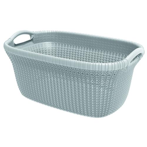 Panier à linge Curver 'Knit' misty blue 40 L