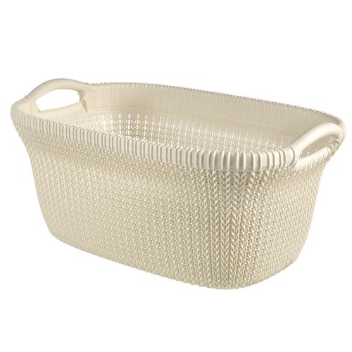 Panier à linge Curver 'Knit' oasis white 40 L